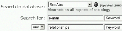 SocAbs e-mail Relationships Search