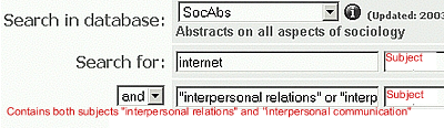 SocAbs Interpersonal Relations Search