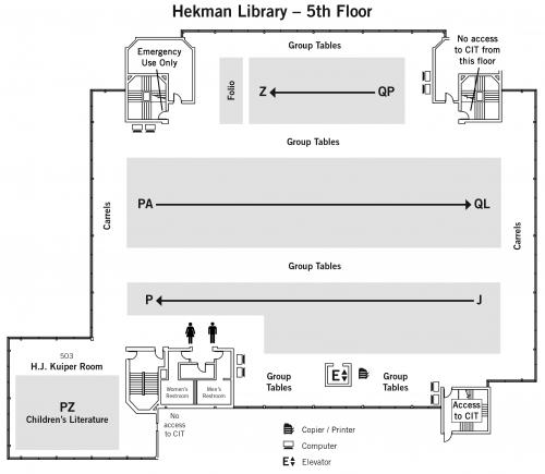 Fifth Floor Map