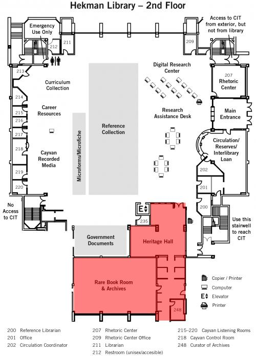 Map - Heritage Hall