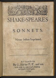 Happy Publication Day, Shakespeare's Sonnets...
