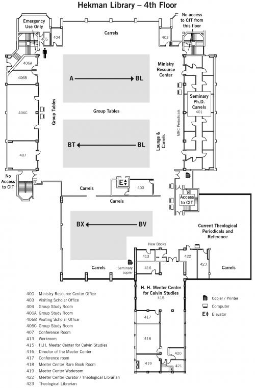 Fourth Floor Map