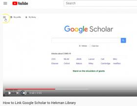 Linking Google Scholar to Hekman Library