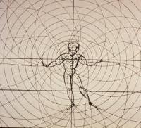 Oskar Schlemmer--drawing of Man as Dancer